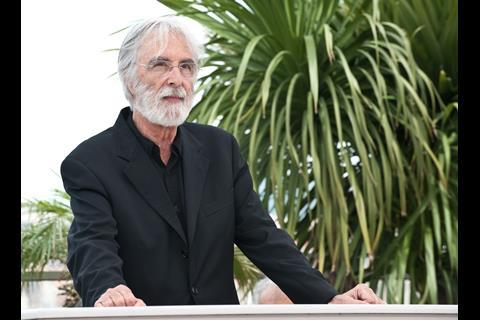 """Director Michael Haneke at the photo call of """"The White Band"""" at the 62nd Cannes Film Festival in Cannes"""